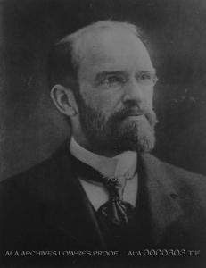 Portrait of Melvil Dewey.